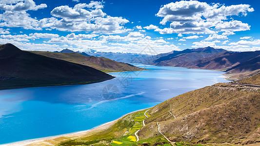 西藏羊卓雍错风光图片