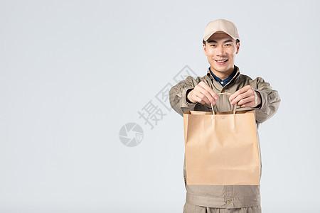 送餐的外卖员图片
