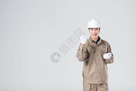 开心的工人图片