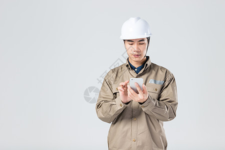 工人用手机图片