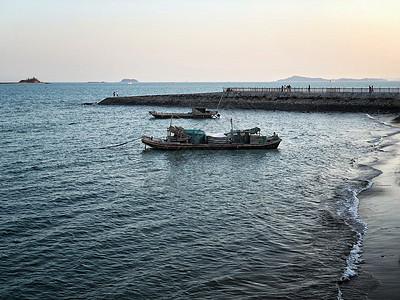 厦门沙滩大海高清图片