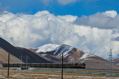 青藏高原上的火车图片