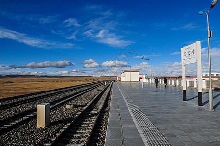 青藏铁路线上的高海拔小站安多车站图片