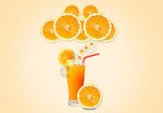 冰镇鲜橙果汁图片
