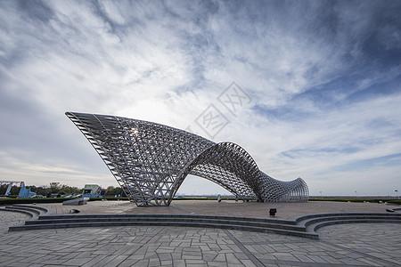 滴水湖雕塑高清图片