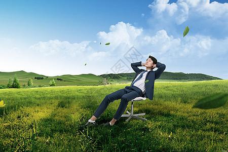 休息的男人图片