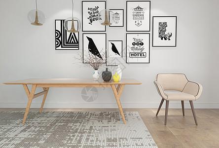 单椅桌子组合图片