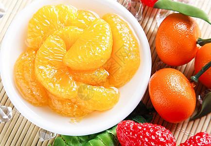 橘子果盘图片