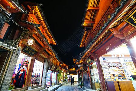 丽江束河古镇夜景图片