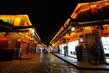 丽江古城夜色酒吧图片