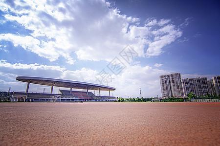 大学校园体育场图片