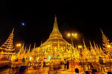 缅甸佛教大金塔图片