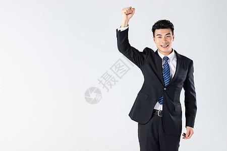 商务男士握拳图片