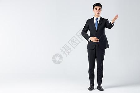 商务男士指引手势图片