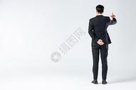 商务男士科技点击背影图片