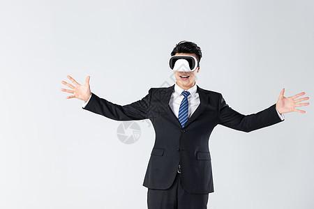 商务男士体验vr图片