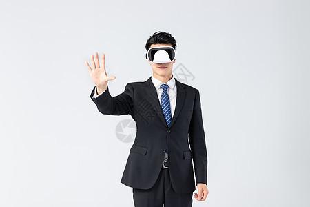 商务男士科技点击 图片