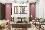 新中式客厅空间图片
