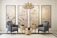 新中式休闲空间图片