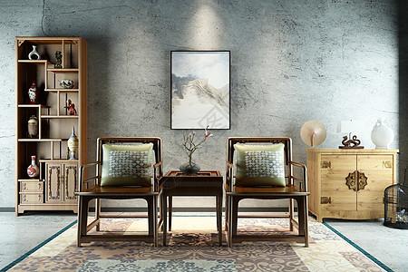 中式休闲空间图片