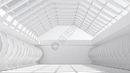立体空间线条背景图片