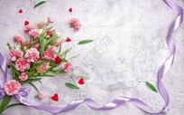 母亲节康乃馨素材图片