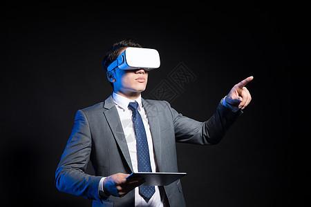 创意商务男性人像vr眼镜科技图片