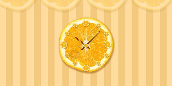 创意鲜柠檬钟表图片