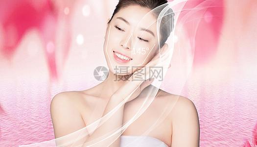 女性微整形美容背景图片