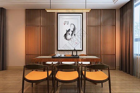 中式餐厅空间场景图片