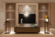 中式电视背景空间图片