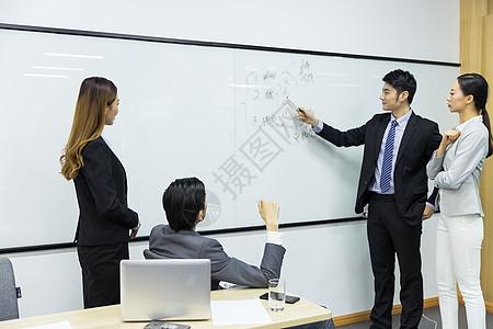 商务团队会议室开会图片
