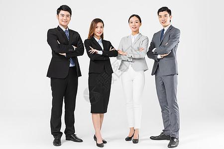 年轻自信商务团队图片