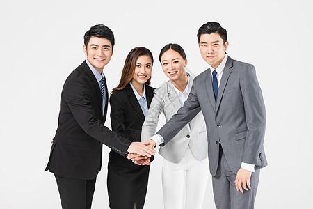 商务团队搭手图片