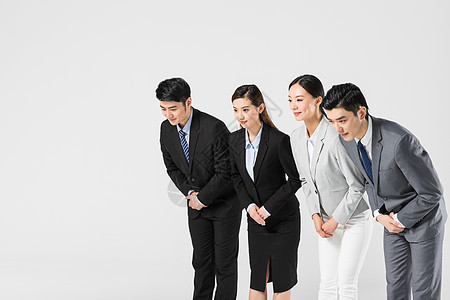 商务团队鞠躬图片