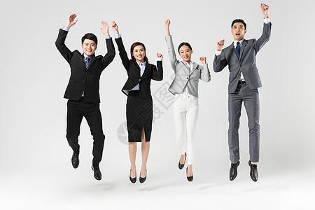 商务团队开心跳跃图片