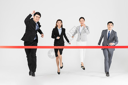 商务团队跑步比赛图片