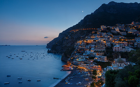 意大利著名阿马尔菲海岸线日落图片