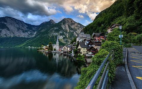 奥地利著名旅游小镇哈尔施塔特风光图片