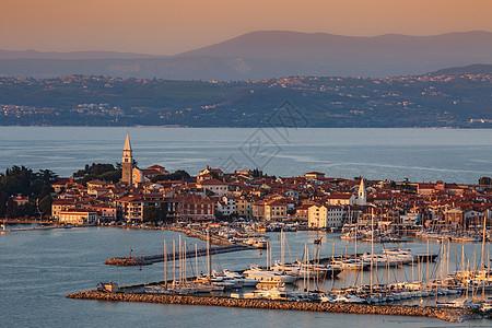欧洲斯洛文尼亚海滨小镇图片