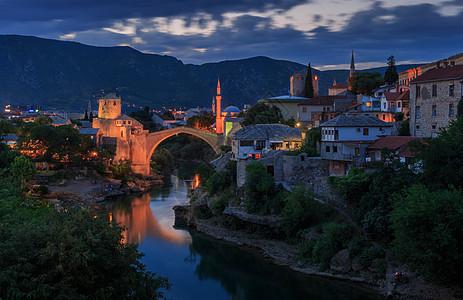 欧洲旅游小镇莫斯塔尔图片