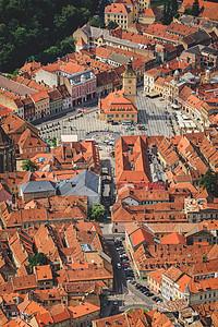 俯瞰欧洲旅游古镇图片