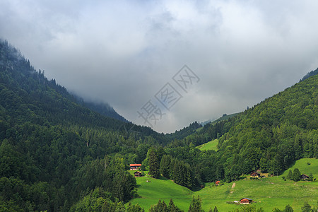 瑞士阿尔卑斯山区自然风光图片