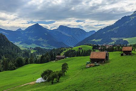 瑞士高山风光图片