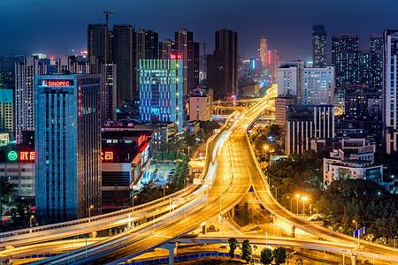 武汉城市夜景风光图片
