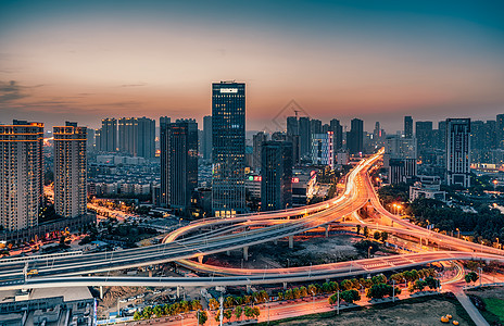 武汉常青立交夜景图片
