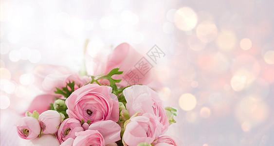 鲜花背景海报图片