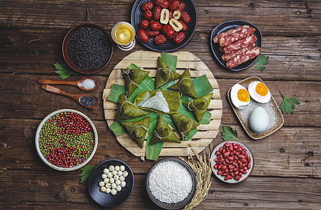 高清端午节粽子食材图片图片