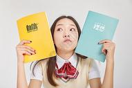 女高中生形象理想自信概念图片