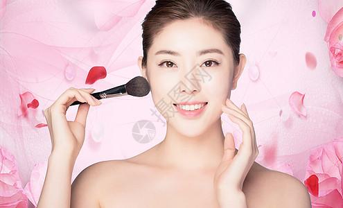 女性美容美妆背景图片